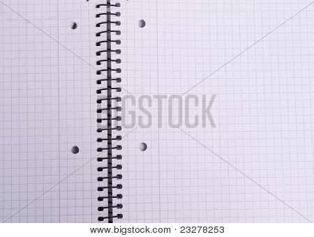 Checkered Sheet Spiral Notebook