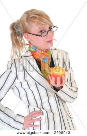 Businesswoman, Lunch Break