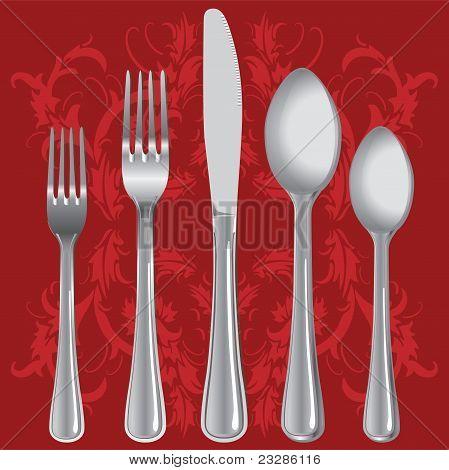 Luxurious dinner setting vector