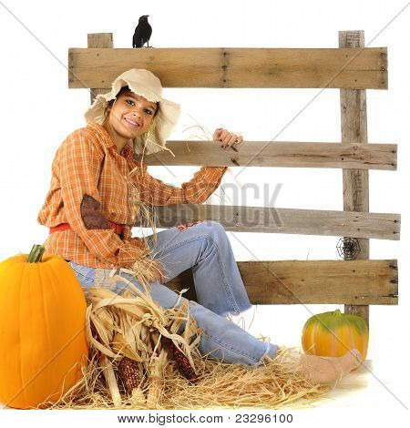Happy Teen Scarecrow
