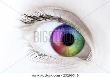 Rainbow Eye close-up