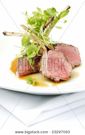 Classic Lamb Chops Plate