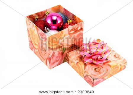 Box With Fur-Tree Toys