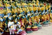 image of lord krishna  - No of statues of Lord Krishna on streets during festival time - JPG