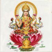 picture of hindu-god  - Lakshmi  - JPG