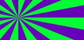 Vibrant Abstract Green And Violet Background With Sunburst Pattern. Radial Vibrant Colorful Rays For poster