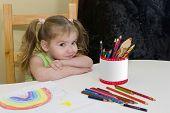 Pretty Girl Has Drawn A Rainbow poster