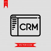 Customer Relationship Icon Vector In Modern Flat Style For Web, Graphic And Mobile Design. Customer  poster