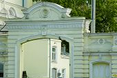 pic of ekaterinburg  - Photo of gate arch at the one of old yards in Ekaterinburg city Russia - JPG