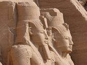 stock photo of aswan dam  - The temples at Abu Simbel - JPG