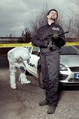 Crime Scene Investigation - Police Officer Guarding Place Of Investigation poster
