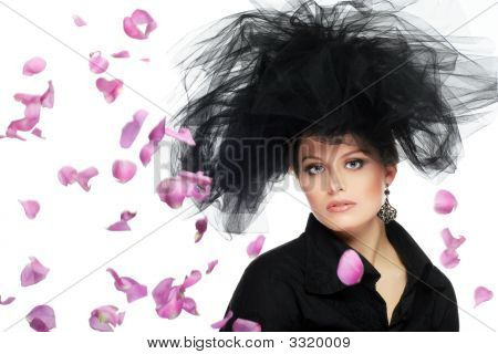 Woman With Flower Petals
