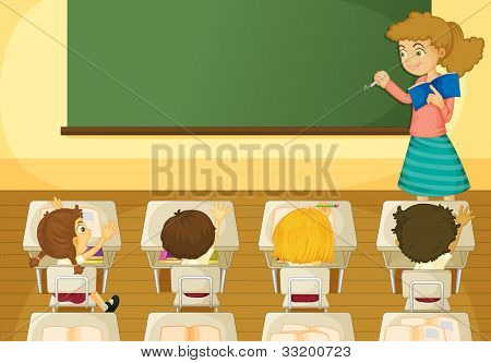 Illustration of a classroom scene - EPS VECTOR format also available in my portfolio.