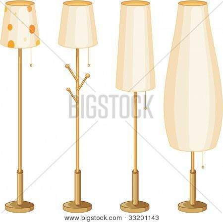 Illustration of a set of lamps - EPS VECTOR format also available in my portfolio.