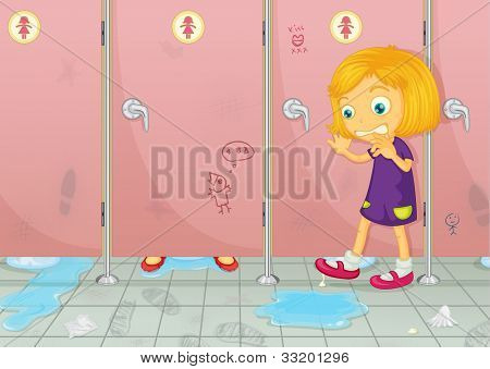 Illustration of a dirty toilet - EPS VECTOR format also available in my portfolio.