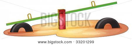 Illustration of an isolated see saw - EPS VECTOR format also available in my portfolio.