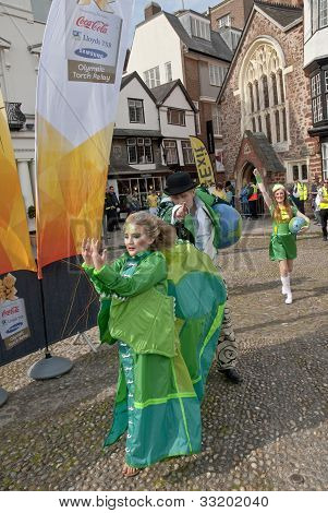 he Lady of the Wind, Emma-Rose, dances through the streets of Exeter