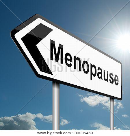 Conceito de menopausa.