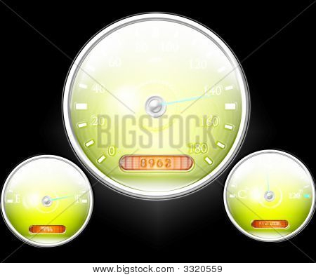 Speedometer And Other Dials