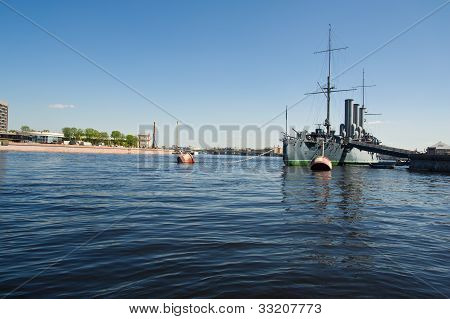 Cruiser Aurora Closeup