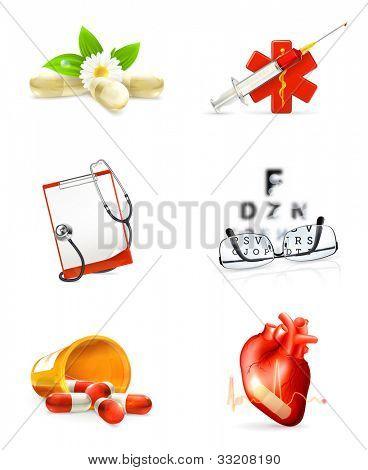 Medicine set of icons, bitmap copy