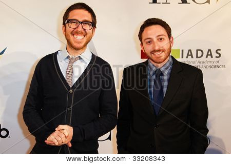 NEW YORK-MAY 17: Amir Blumenfeld and Dan Gurewitch of MTV's College Humor attend the IAC And Aereo Official Internet Week New York HQ Closing Party at IAC HQ on May 17, 2012 in New York City.