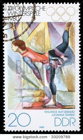 DDR - CIRCA 1980: A stamp printed in DDR shows Johanna Starke