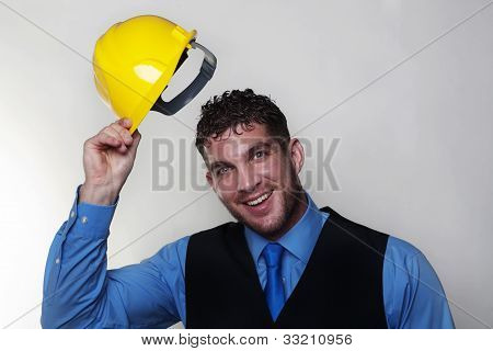 Man And Hardhat