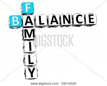 3D Family Balance Crossword