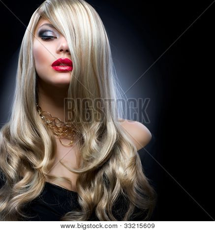 Fashion Blond Girl Portrait