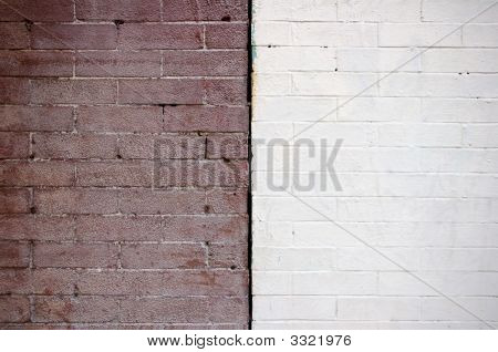 Two Contrasting Brick Walls