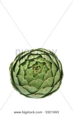 Green Artichoke Viewed From Above