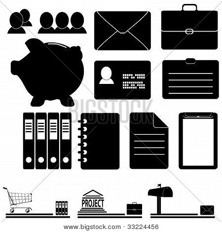 A Set Of Business Icons