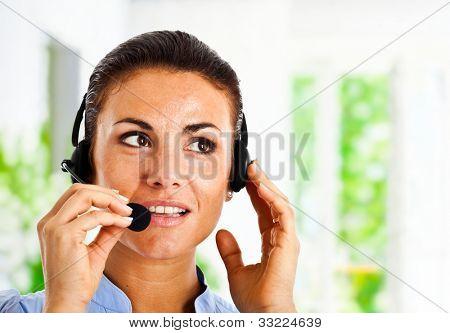 Portrait of a beautiful customer representative at work