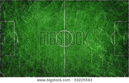 Green field grunge textured for background football