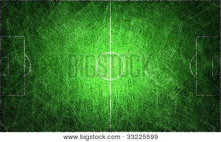 Grunge Textured For Background Football