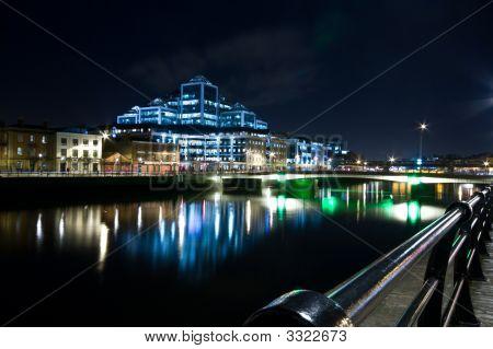 Dublin Docklands At Night