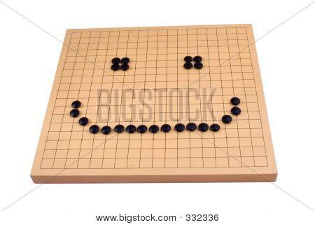 Go Board - Black Smiley