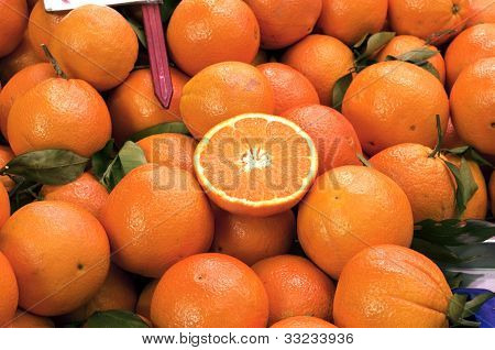 Oranges In The Market