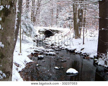 Small stream in winter