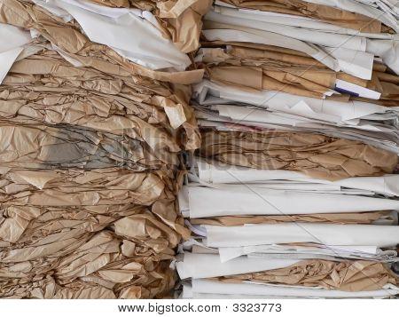 Compressed Waste Paper