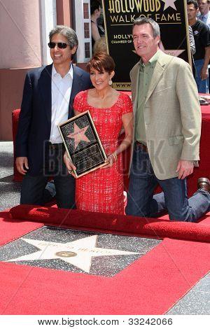 LOS ANGELES - MAY 22:  Ray Romano, Patricia Heaton, Neil Flynn at the Hollywood WOF Ceremony for Patrica Heaton at Hollywood Boulevard on May 22, 2012 in Los Angeles, CA