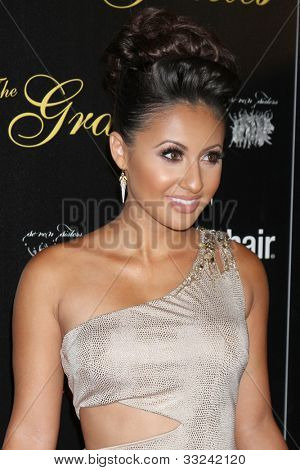 LOS ANGELES - MAY 22:  Francia Raisa arrives at the 37th Annual Gracie Awards Gala at Beverly Hilton Hotel on May 22, 2012 in Beverly Hllls, CA