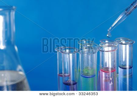 Test glass And Pipette