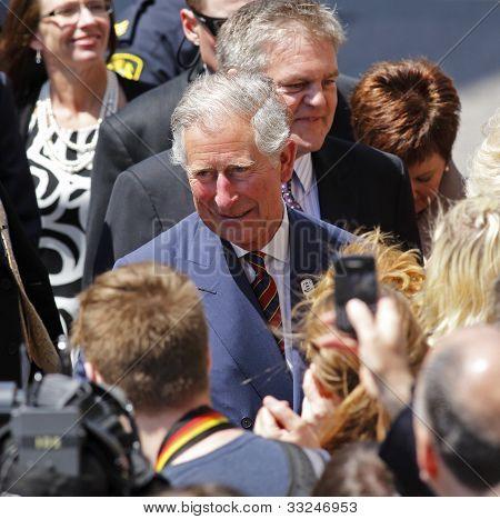 Prince Charles Walkabout Saint John