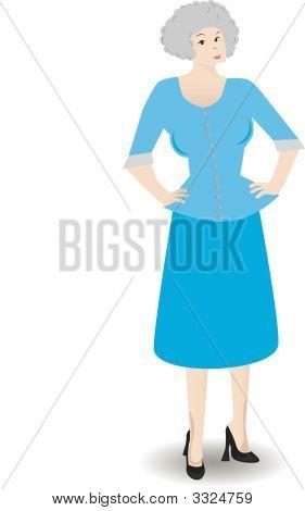 Older Business Woman - Vector
