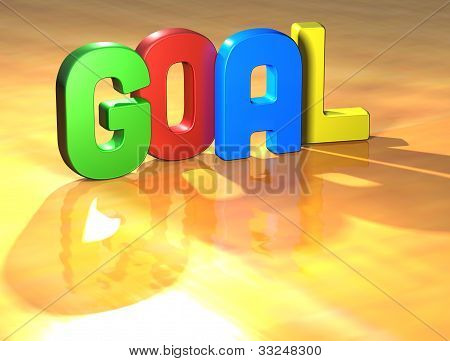 Word Goal On Yellow Background