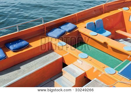 Colorful Seats Of A Cruising Sloop