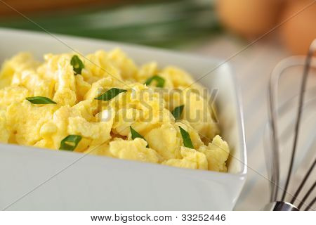 Scrambled Eggs with Green Onion