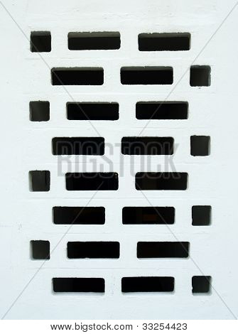 White Textured Exterior Wall.